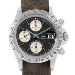 Tudor Big Block Black Dial Steel Vintage Men's Watch 94300