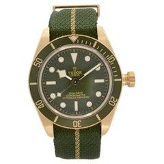 Tudor Black Bay Fifty-Eight 18K Yellow Gold Green Dial Mens Watch 79018V