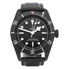 Tudor Black Bay Heritage 79230DK Men's DLC Coated Stainless Steel Watch