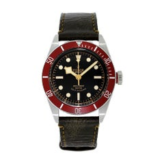 Tudor Black Bay Heritage Stainless Steel Red Diver Watch 79220R