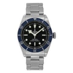 Tudor Black Bay Polished Steel Matte Blue Bezel Diver Watch 79230B