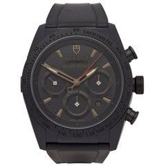Tudor Blackshield 42000CN Men's DLC Coated Stainless Steel Chronograph Watch