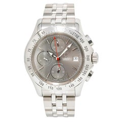 Tudor Chronoautic 79380p Men's Automatic Watch Gray Dial Chronograph SS