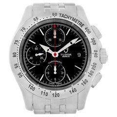 Tudor Chronoautic Stainless Steel Black Dial Men's Watch 79380