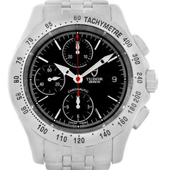 Tudor Chronoautic Stainless Steel Black Dial Men's Watch 79380