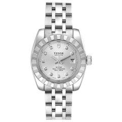 Tudor Classic Date Stainless Steel Diamond Ladies Watch 22010 Unworn