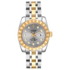 Tudor Classic Date Steel Yellow Gold Diamond Ladies Watch 22013 Unworn