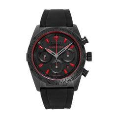 Tudor Fastrider Black Shield Matte Ceramic Red Index Dial Watch 42000CR