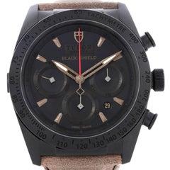 Tudor Fastrider Blackshield Alcantara Strap Ceramic Watch 42000CN Unworn