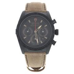 Tudor Fastrider Shield Black Dial Chrono Ceramic Men's Watch 442000CN-ALCANTARA