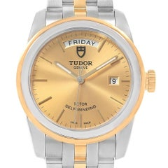 Tudor Glamour Day Date Steel Yellow Gold Men's Watch 56003