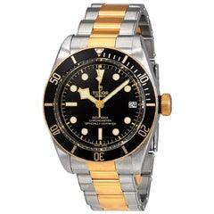 Tudor Heritage Black Bay 79733N Two Tone Black Dial Men's Watch with B&P