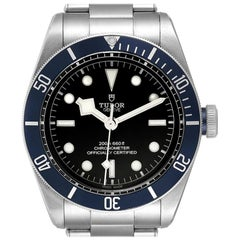 Tudor Heritage Black Bay Blue Bezel Steel Watch 79230B Box Papers
