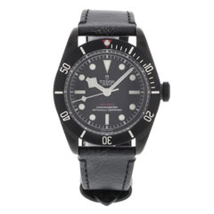 Tudor Heritage Black Dial Bay PVD Steel Leather Automatic Men's Watch 79230DK