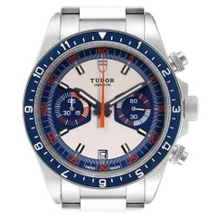 Tudor Heritage Chrono Blue Stainless Steel Men's Watch 70330 Box Card