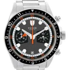 Tudor Heritage Chrono Grey Dial Steel Men's Watch 70330N
