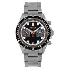 Tudor Heritage Chrono Stainless-Steel Black Chronograph Watch 70330N-0005