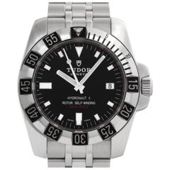 Tudor Hydronaut ii 20030 Stainless Steel Black Dial Automatic Watch