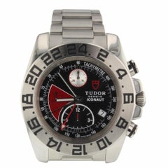 Tudor Iconaut Steel Automatic Black and Red Chronograph Watch 20400