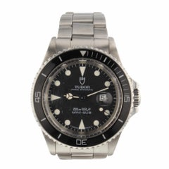 Tudor Mini Sub Steel Black Dial Automatic Watch 73090 Certified Pre-Owned