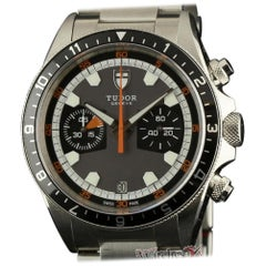Tudor New Heritage 70330N Stainless Steel Grey Black Box/Paper/2 Year Warranty