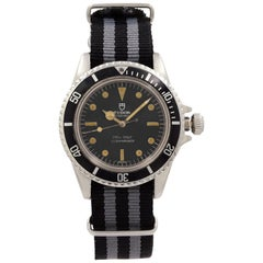 Tudor Oyster Prince Submariner No Date Steel Black Dial Men's Watch 7016/0