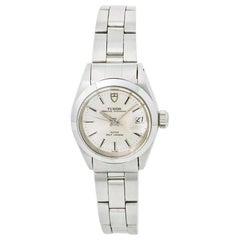 Tudor Oysterdate 92400 with Box Womens Automatic Watch Silver Dial Stainless