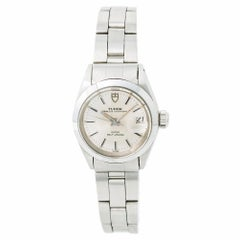 Tudor Oysterdate 92400 with Box Women's Automatic Watch Silver Dial Stainless