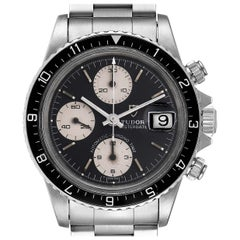 Tudor Oysterdate Big Block Vintage Chronograph Steel Men's Watch 79170