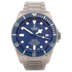 Tudor Pelagos 25600TB Men Stainless Steel Smurf Watch