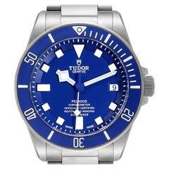 Tudor Pelagos Blue Dial Automatic Titanium Men's Watch 25600 Box Papers