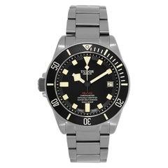 Tudor Pelagos Left-Handed Titanium Black Ceramic Bezel Watch 25610TNL