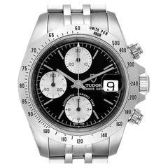 Tudor Prince Black Dial Chronograph Steel Men's Watch 79280