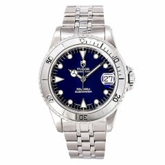 Tudor Prince Date Submariner 75190 Men's Automatic Watch Blue Dial SS