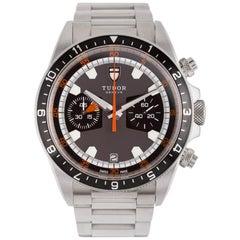 Tudor Ref. 70330 Heritage Steel Chronograph Black Dial
