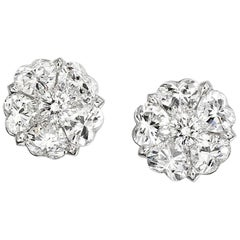 """Tudor Rose"" Heart Shape Diamond Earrings"