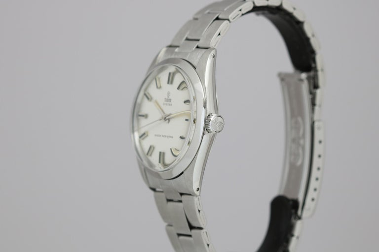 Tudor Shock Resisting Ref 7991/0 Stainless Steel, circa 1965 In Good Condition For Sale In Miami Beach, FL