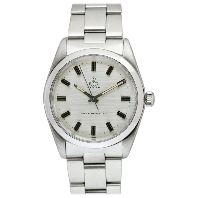 Tudor Shock Resisting Ref 7991/0 Stainless Steel, circa 1965 For Sale