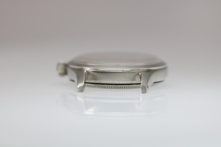 Tudor Stainless Steel Oyster Ref 4463 Wristwatch circa 1970. Run with a manual wind 17-jewel movement. 33mm circa 1960s