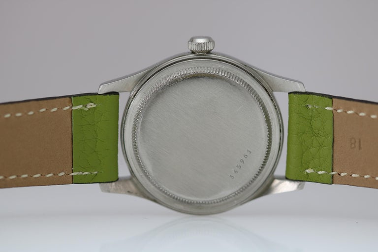 Tudor Stainless Steel Oyster Ref 4463 Wristwatch, circa 1960s In Good Condition For Sale In Miami Beach, FL