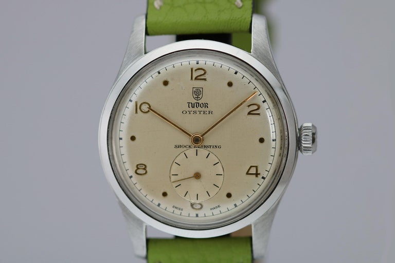 Tudor Stainless Steel Oyster Ref 4463 Wristwatch, circa 1960s For Sale 2