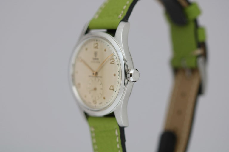 Tudor Stainless Steel Oyster Ref 4463 Wristwatch, circa 1960s For Sale 3
