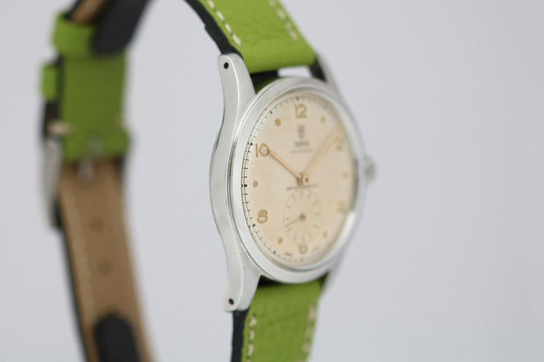 Tudor Stainless Steel Oyster Ref 4463 Wristwatch, circa 1960s For Sale 4