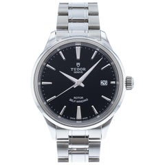 Tudor Style 12500-0004 Automatic Men's Watch Black Dial SS