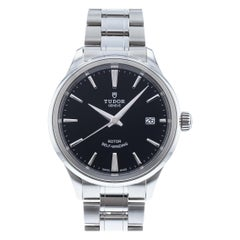 Tudor Style 12500, Black Dial, Certified and Warranty