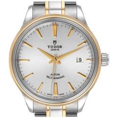 Tudor Style Date Silver Dial Steel Men's Watch M12303 Unworn