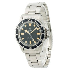 Tudor Submariner 94010 Men's Automatic Vintage Watch Black Dial SS