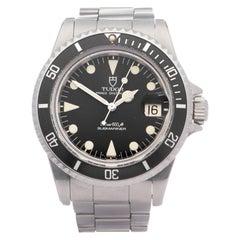 Tudor Submariner Date 76100 Men Stainless Steel Meters First Watch