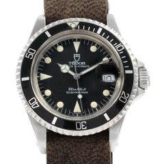 Tudor Submariner Prince Oysterdate Black Dial Steel Men's Watch 79090