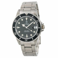 Tudor Submariner Vintage 75090 Men's Automatic Midsize Watch Black Dial SS